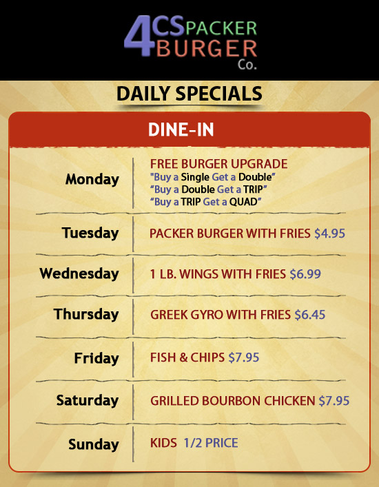 Daily Special Menu Wisconsin | Best Chinese Restaurant Green Bay ...