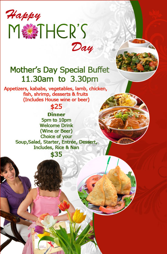 Enjoy Mothers Day Special Buffet At Bhog Indian Restaurant