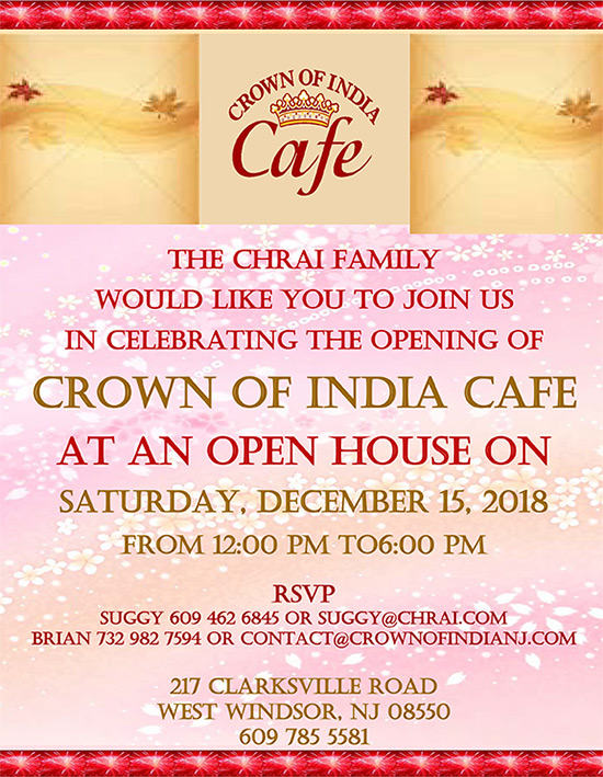 The Opening of Crown of india cafe