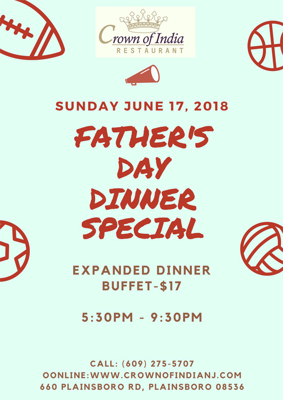 Father's Day at Crown of India