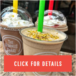 Hummus milkshake new vegan, gluten-free alternative for beating the heat
